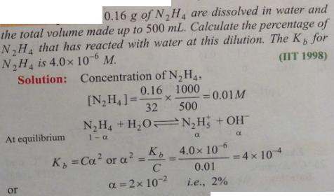 112 Ionic equilibrium dissociation constant
