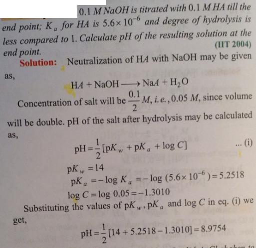 115 Ionic equilibrium dissociation constant