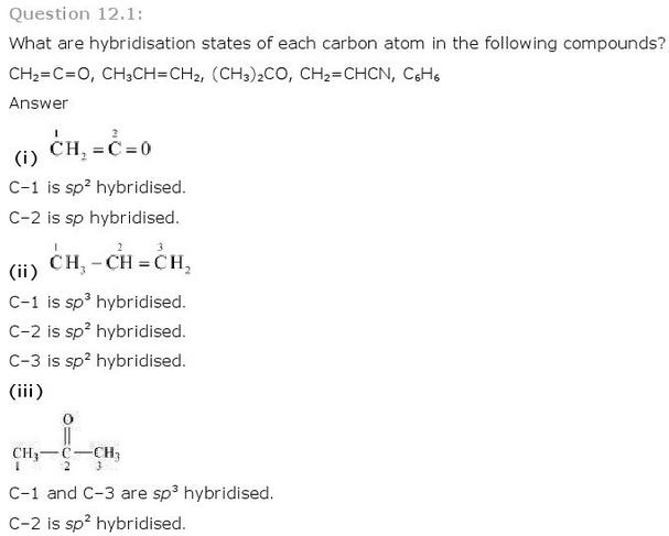 12.1a CBSE NCERT std 11 Chemistry Organic