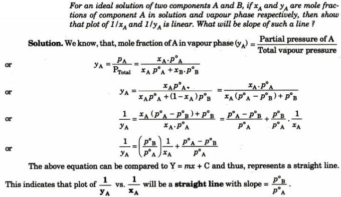 12 An ideal solution of two components
