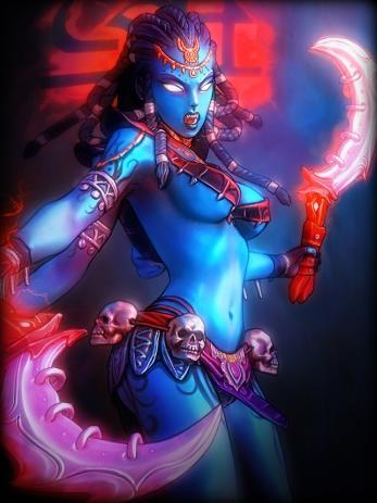 12 Neon Kali blue Pink dance