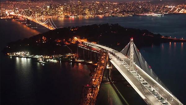12a Night view of a bridge