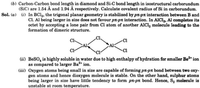 13 Boron trichloride has triangular planar geometry