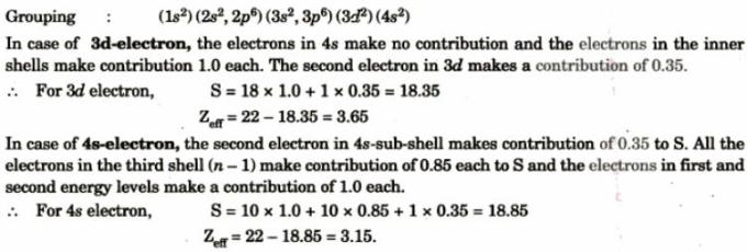 13 Calculation of Screening constant Slater Rules