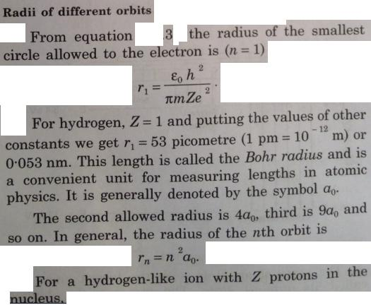 14 Bohrs model of electron around nucleus