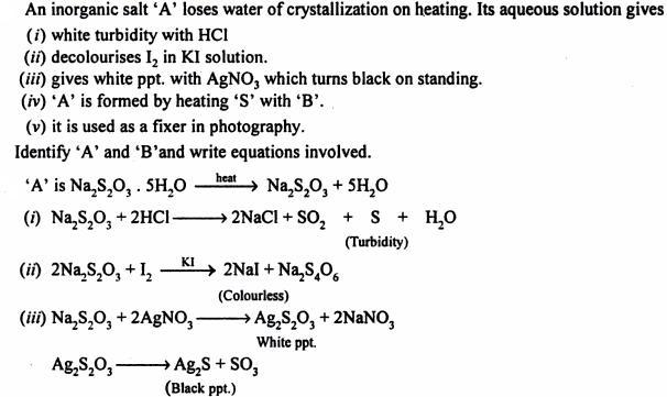 14 inorganic salt loses water