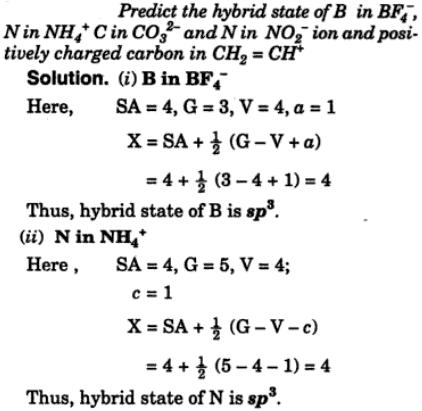 14 Predict the hybrid state of B
