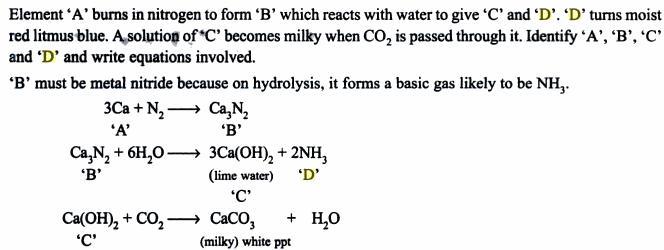 16 Element burns in Nitrogen