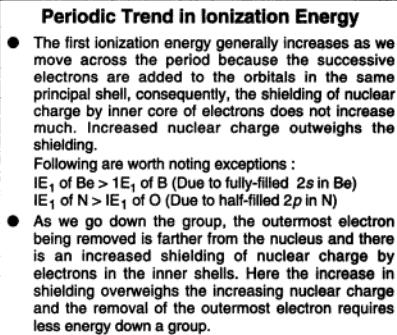 16a Periodic trend in Ionization energy