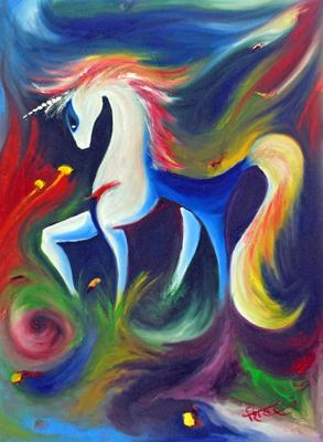 18 blue horse