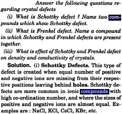 18 crystal defects schottky effect