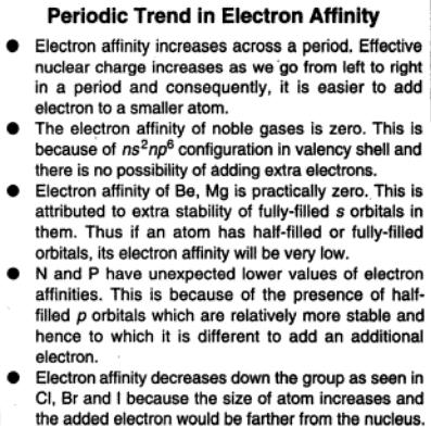18a Periodic trend in Electron Affinity