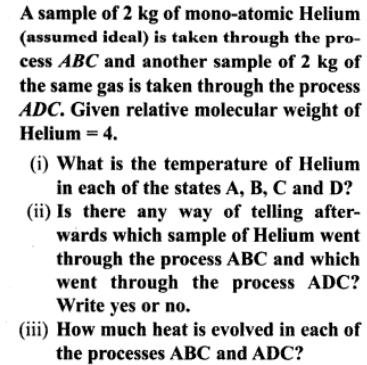 1a A sample of mono atomic Helium