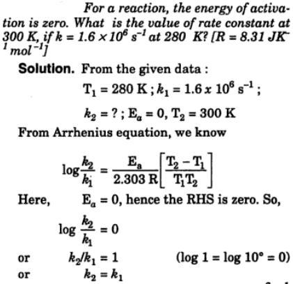 1a Activation energy is zero