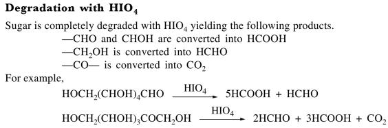 1a Degradation with HIO4