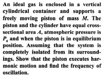 1a Ideal gas thermodynamic chamber SHM approximation