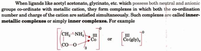 1a Inner Metallic Complexes