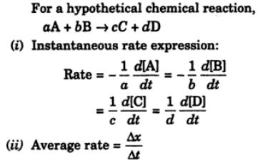 1a Instantaneous rate expressions
