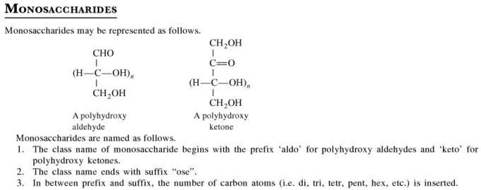 1a Monosaccharides
