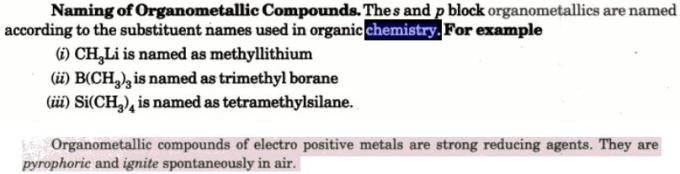 1a Naming of Organometallic compounds