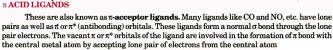 1a Pi acid ligands