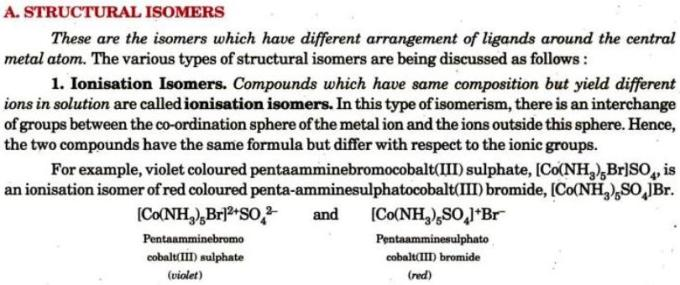1a Structural Isomers Ionisation Isomers