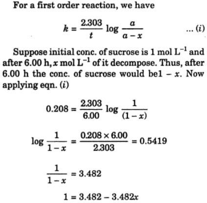 1b decomposition of sucrose into glucose and fructose