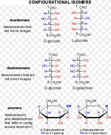 1b enantiomer diastreomer and anomer