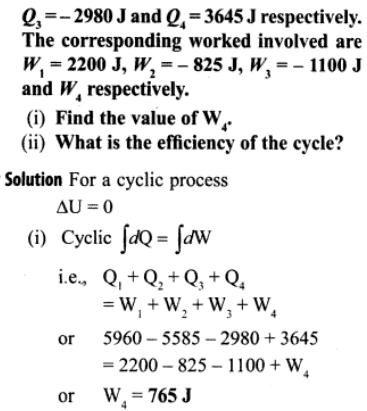 1b Ideal gas is taken through a cycle