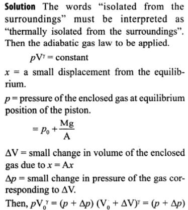 1b Ideal gas thermodynamic chamber SHM approximation
