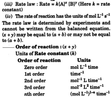 1b Instantaneous rate expressions