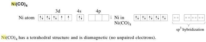 1b Ni(CO)4 diamagnetic