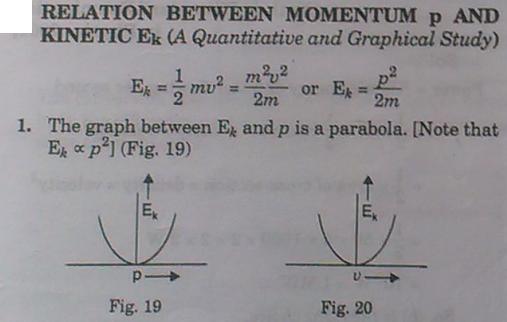 1b Relation between Momentum p and Kinetic Energy