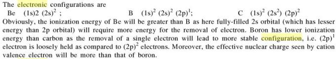 1b Which of the following orders regarding the ionization is correct
