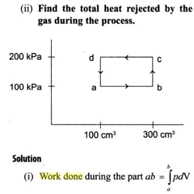 1b work done and heat rejected example