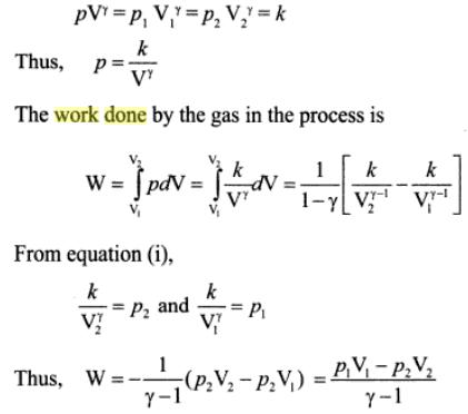1b work done in adiabatic process formula derivation