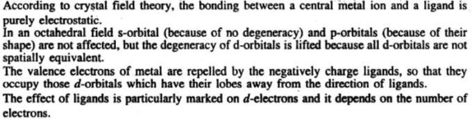 1c Crystal field theory postulates