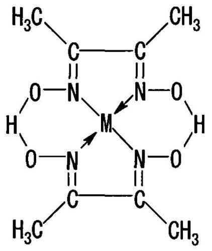 1c dimethylglyoximeto structure bidentate