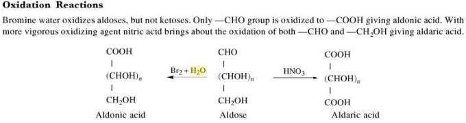 1c Oxidation reaction of Sugars