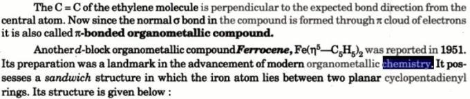 1c Pi bonded Naming of Organometallic compounds