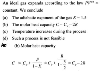 1c Specific heat in Polytropic process example calculation