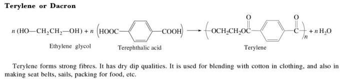 1c Terylene or Dacron