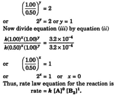 1c The experimental data for the reaction 2A