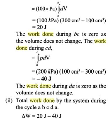 1c work done and heat rejected example