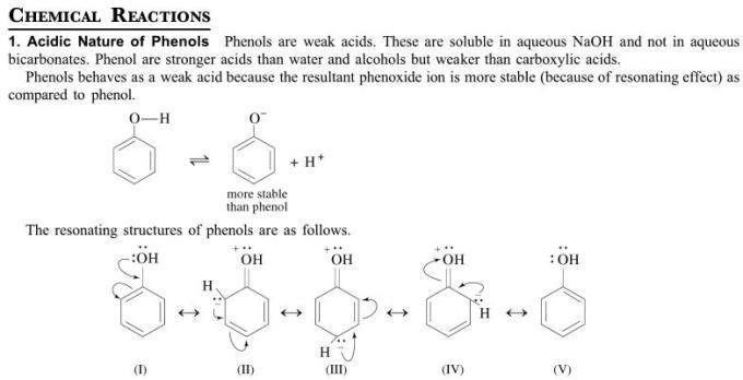 1d Acidic Nature of Phenols