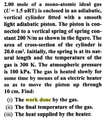 1d Ideal gas is taken through a cycle