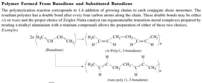 1d Polymers formed from Butadiene and substituted Butadiene