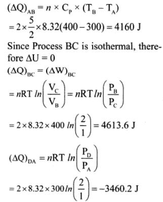 1e Helium undergo cyclic process