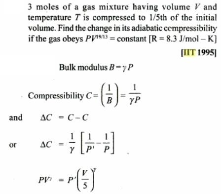 1e IIT JEE 1995 polytropic process problem