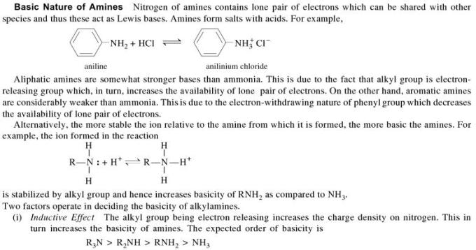 1f Basic nature of Amines